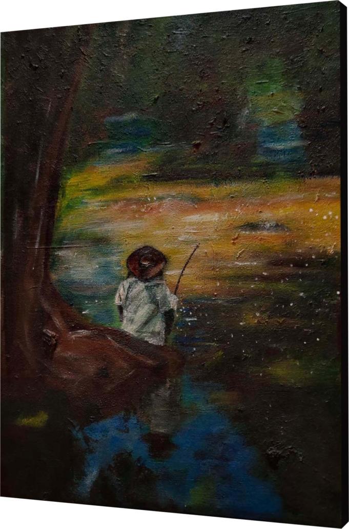 Der Angler in Vietnam von Melina Petala
