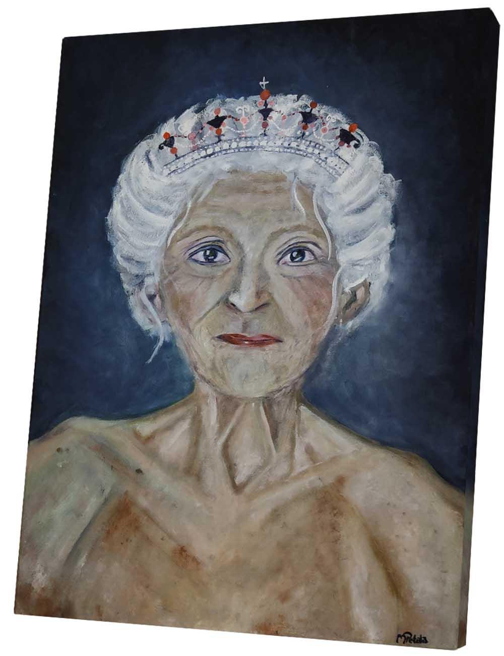 Das Ölbild von einer Königin von Melina Petala