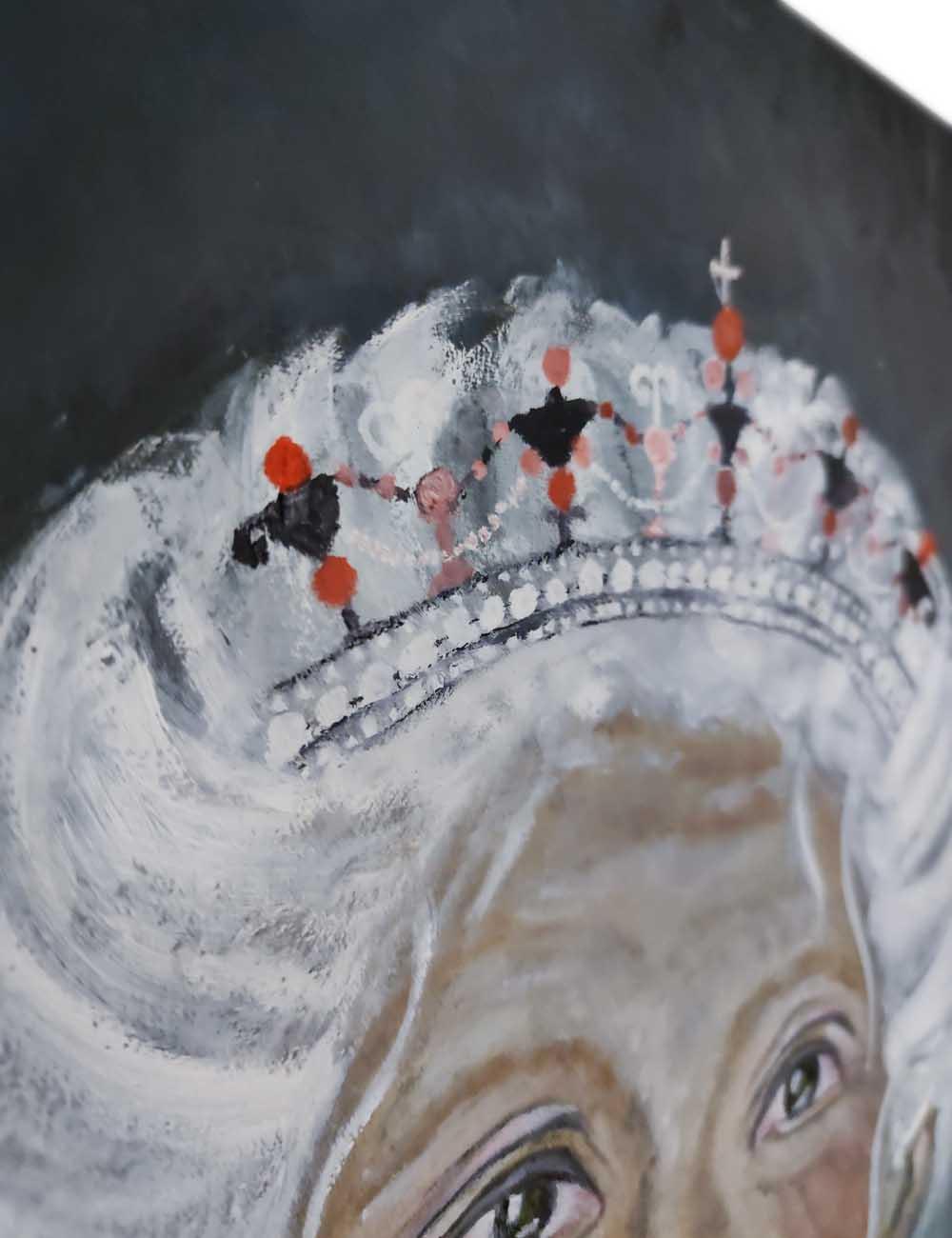 """Ein Detail von dem Ölbild """"Die Königin"""""""