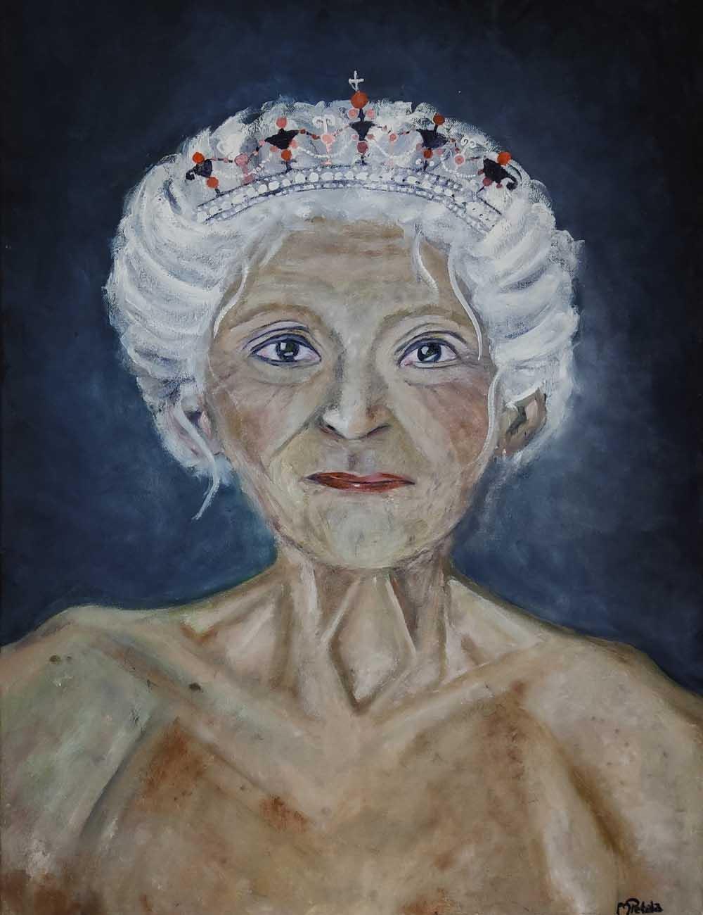 Das Ölbild von der Königin von Melina Petala